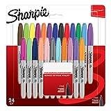 Sharpie–Juego de rotuladores permanentes, punta fina, color varios colores pack de 24