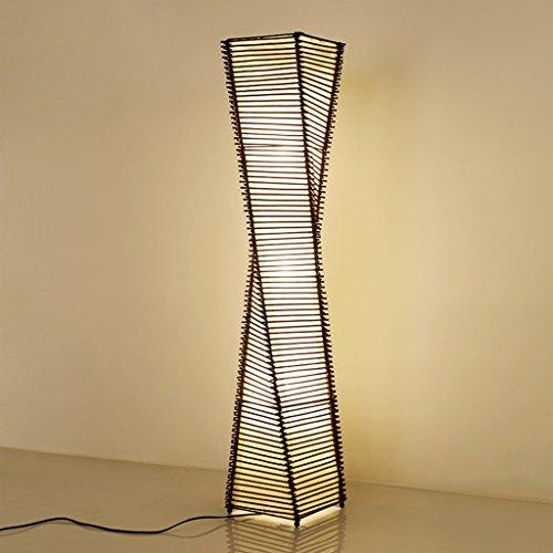 Lámparas de Pie Lámpara Vertical Piso Tradicional Armadura de Mimbre Enrejado Mimbre ramita Lámpara de pie Decorativa luz de iluminación casera e27 * 2 (Color : D-130 * 30cm)