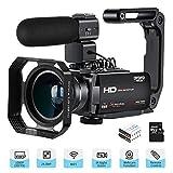 ORDRO Videocamera Full HD 1080P 30FPS 24MP 3.0 '' IPS Touch Screen Videocamera per Visione Notturna...