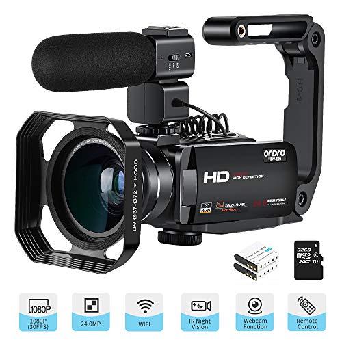 ORDRO Camcorder Full HD 1080P 30...