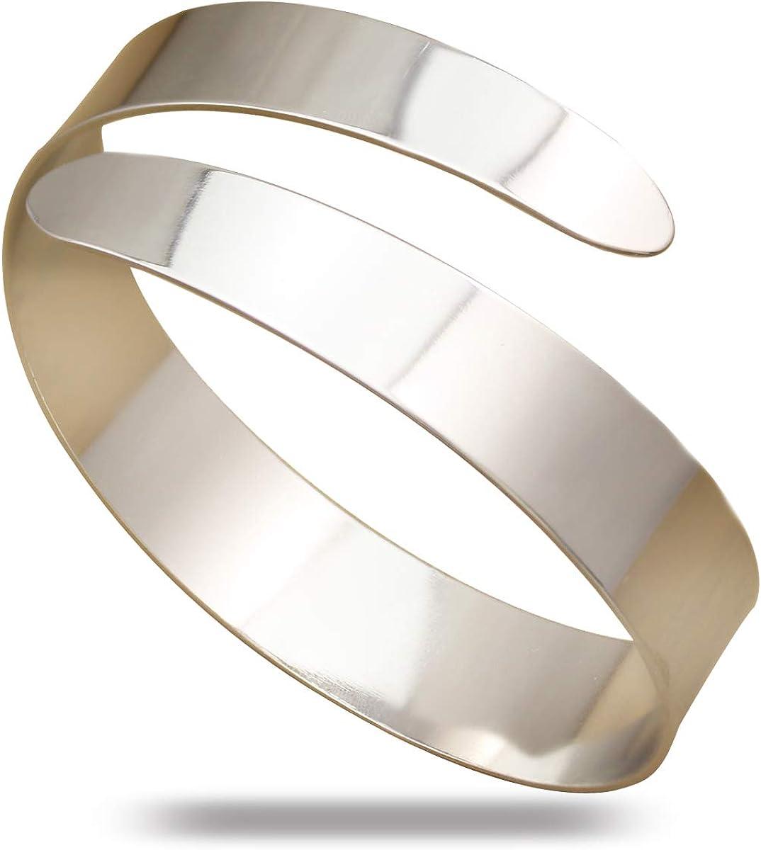 RechicGu Egypt Cleopatra Swirl Snake Upper Arm Cuff Armlet Armband Bangle Bracelet