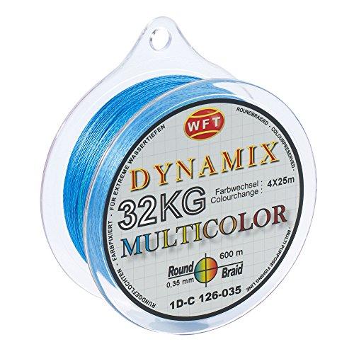 WFT Round Dynamix KG Multicolor 600m geflochtene Schnur, Durchmesser:0.35mm