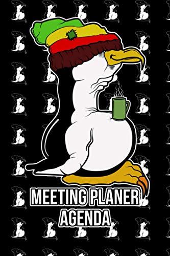 Meeting Planer im Dot Grid A5 Format mit Rasta Tux Linux Pinguin: Dot Grid A5 Notizbuch für Linux Fans und Computer Nerds