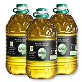 Aceite de Oliva Virgen Extra Ecológico - 5 litros Pack 3 - Cooperativa de Elche de la Sierra