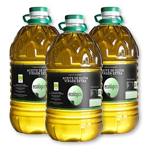 Aceite de Oliva Virgen Extra Ecológico - 5 litros Pack 3 -...