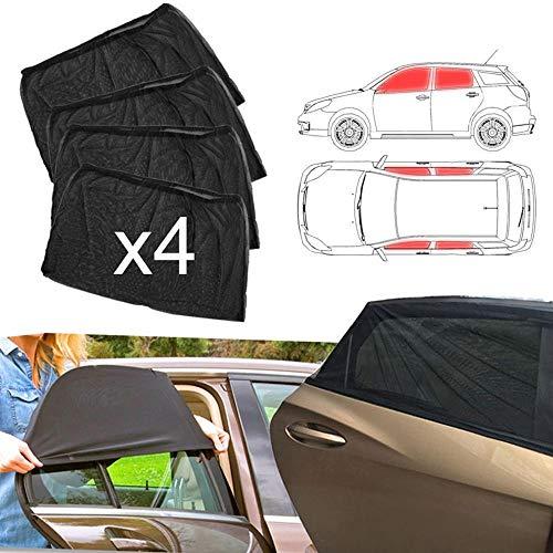 XFCNOI. 4pcs Car Anteriore E Posteriore Laterale della Finestra di Sun Visor Ombra della Copertura della Maglia Parasole Dell isolamento della Anti-zanzara Fabric Shield UV Protector