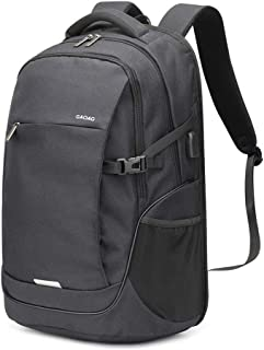 Travel Laptop Backpack,Travel Computer Backpack with USB Charging Port,35L Lightweight Water Resistant Anti Theft Computer Backpack for Laptops 15.6 inch, College School Travel Bag (Black)