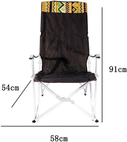 AJZXHE Chaise de Camping Pliante Camping Chaise Pliante Portable Chaise de pêche Chaise de Plage Chaise de Loisirs Chaise Pause déjeuner Chaise