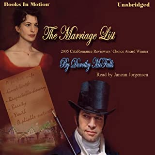 The Marriage List audiobook cover art
