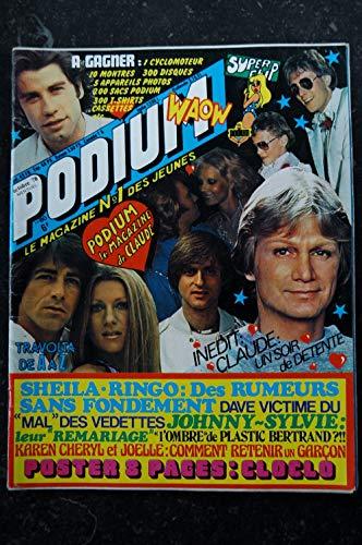 PODIUM n° 80 Claude FRANCOIS Sheila Karen Cheryl Plastic Bertrand Posters voir détail - 1978 10
