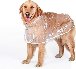 Bonaweite Dog Raincoat with Hood Poncho, Waterproof Transparent Rain Coat, Lightweight Rain Jacket Clothes for Big Dogs