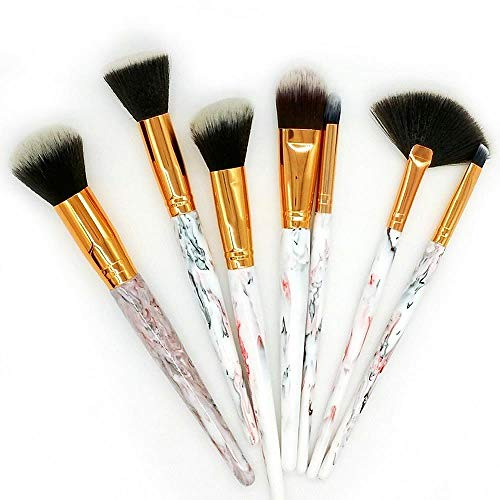 MEISINI Maquillage Pinceau À Paupières Fond De Teint Poudre À Paupières Maquillage Brosses Contour Brosses Cosmétiques, Ivoire