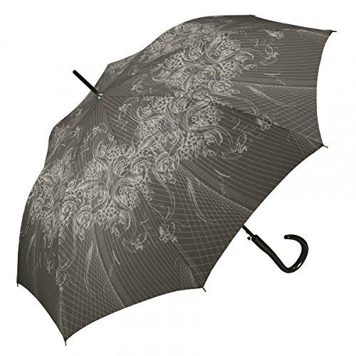 Pierre Cardin Regenschirm Stockschirm Damen Automatik, Farbvariante:grau