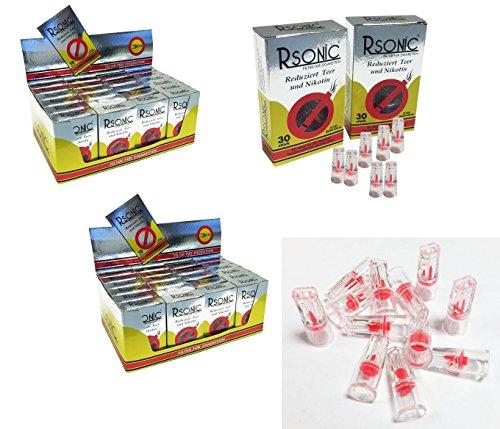 GWS-Powercell® Rsonic 30er Pack Zigarettenfilter Nikotinfilter (48x 30 Stück)