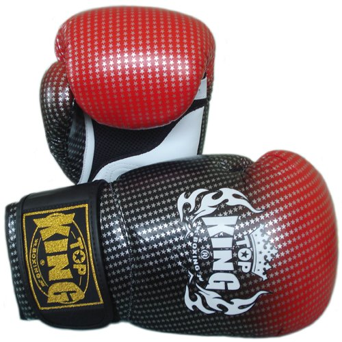"Top King Muay Thai Boxing Gloves Super Star TKBGSS-01-RD \""Air\"" Red 10-12-14-16 Oz."