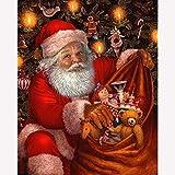 No Branded Pintura de diamante para Papá Noel con diseño de Papá Noel,...