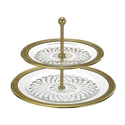 ARNSTADT KRISTALL Etagere Kristallglas Rococo (32cm)