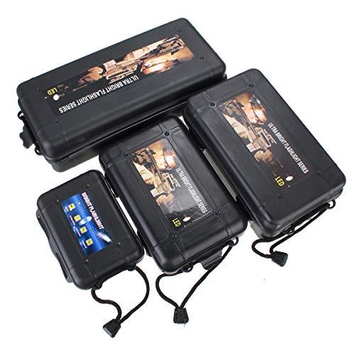 L : Jiguoor S M L XL Boîte de rangement en plastique pour lampe de poche Noir