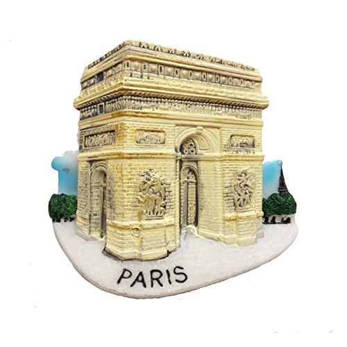 MUYU Aimant Arc de Triomphe Pariis Aimant de réfrigérateur, France Voyage Souvenir, Maison d'autocollant et décoration de Cuisine Cadeau de