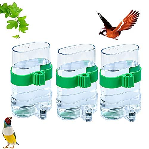 3Pcs Mascotas, Comedero para Pájaros, Bebedero Automático para Pájaros, Comedero para Pájaros Comedero para Mascotas, Dispensador de Agua para Comida de Aves, Comedero Automático para Pájaros