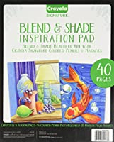 Crayola Blend & Shade Inspiration Pad, Marker & Colored Pencil Art Techniques, Adult Coloring Book, 40 Pages