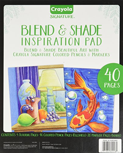 Crayola Blend & Shade Inspiration Pad, Adult Coloring Book, 40 Pages