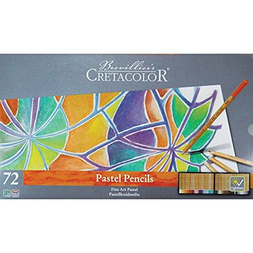 Cretacolor Fine Art Pastel Pencil Set, Set of 72, Multi