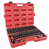 ABN 65 Piece Impact Socket Set - 1/2in Drive SAE and Metric Shallow and Deep...