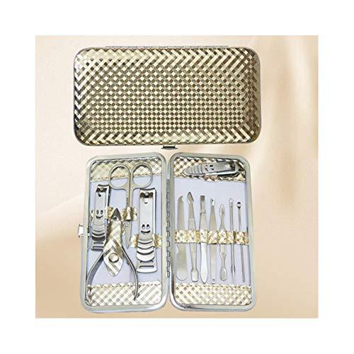 NNNQO Reiniger Sterilisator Für Nail Art Salon Für Cutter Maniküre Set Sterilisator Instrument Schmuck Uhr Gläser Waschmaschine-Luxuriöse Ledertasche Für Die Zehennagelpflege Safe Nail Trimmer Kit