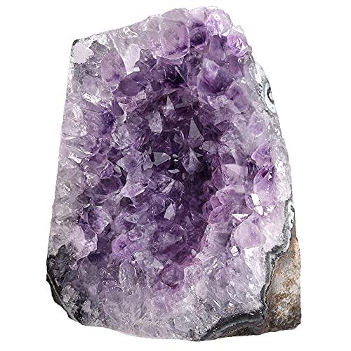 Nupuyai Amatista druse grande de cristal en bruto para decoración, amatista natural, segmento de druso, piedra de cuarzo (700 g - 800 g)