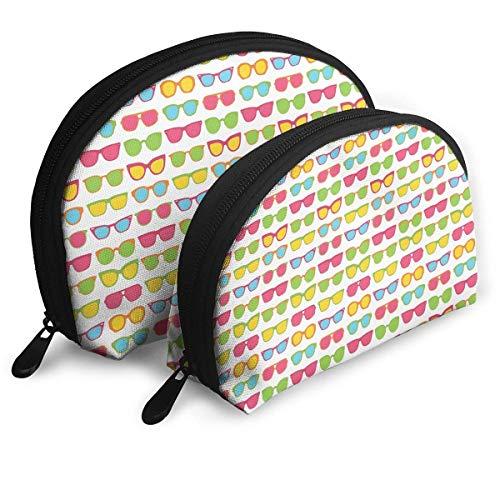 XCNGG Borsa portaoggetti Cool Summer Occhiali da sole Art Portable Travel Makeup Handbag Borse da toilette impermeabili Organizer