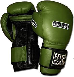 Ring to Cage 20oz, 22oz, 24oz Deluxe MiM-Foam Sparring Gloves - Safety Strap Boxing Training Gloves, for Boxing, MMA, Muay Thai, Kickboxing