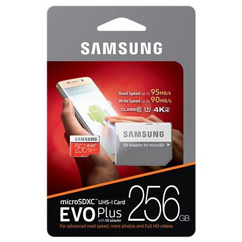 Samsung Evo Plus 256GB Micro SD XC Clase 10grado 3UHS-3funda para tarjeta de memoria (mb-mc256da)