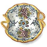 CERAMICHE D'ARTE PARRINI - Italian Ceramic Art Montalcino Pottery Serving Small Bowl Hand Painted Made in ITALY Tuscan