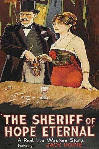 Natty Dude zieht eine Pistole aus seinem Holster vor einem Spieltisch, er raucht eine Zigarre und hat ein schönes Mädchen neben ihm, Posterdruck von Unknown (45,7 x 61 cm)