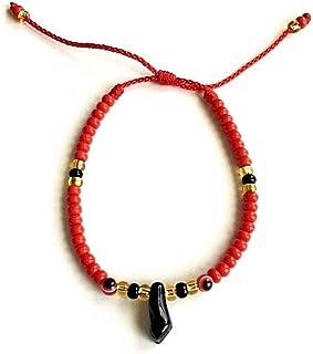2f99eb6a1c14 LUXURYGOLD888 AZABACHE RED Bracelet with RED Evil Eye (Adult)   PULSERA DE  AZABACHE para