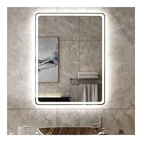 Badkamerspiegel Rechthoekige Make-up Make-up Wandgemonteerde Antimistspiegel Met Verlichte Aanraakschakelaar (Size : 75 * 120cm(29.5in*47.2in))