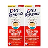 Little Remedies Children's Fever & Pain Reliever, Ages 2 to 11, Grape Flavor, 4 fl oz, 2 Pack