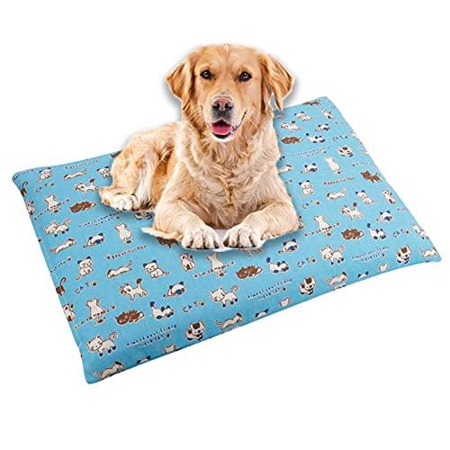 Cómodo Colchón para Mascotas Cojines De La Perrera Cama De Estera Suave Y Cálida Cojín para Gatos Perros Sofá con Cojín para Mascotas De Doble Propósito Otoño E InviernoLight Blue-X Large