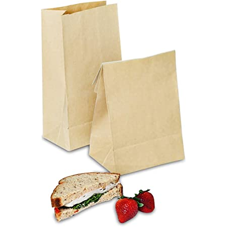 Size 11 x 6 x 4   80gsm Strong Brown Paper Bags Lunch Thick Brown Kraft Paper Bags SOLAS Brown Paper Bags 28 x 15 x 10cm Pack of 50 Brown Paper Lunch Bags