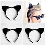 headband, waymine 1 pc girls sexy black cat ears of party hoop headband