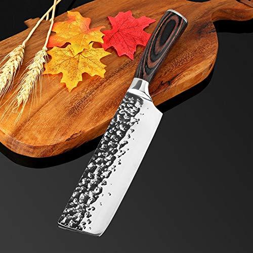 Cuchillo de cocina Chef 8 pulgadas Cuchillo de acero inoxidable Sushi Carne Santoku 7CR17 Cuchillo de alto carbono Cocina Cuchillo multifunción (Color : 7 in cleaver knife)