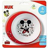 NUK 80890771 Disney Mickey Esslernschale, rutschfester Boden, BPA frei, ab 6 Monate, mehrfarbig