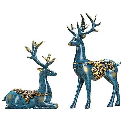 Kunyun Estatuas Corredor Europeo Sala de Estar Decoración Decoración gabinete del Vino Creativo Moderno Porche Televisión Gabinete Crafts Muebles for el hogar Animales Oficina pequeñas Decoraciones