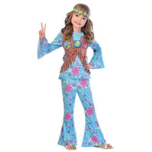 Flower Power Hippie - 60er Jahre Hippie Kostüm Kinder Mädchen Amscan
