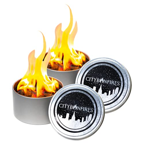 2 Pack of City Bonfires ($18.99 Each)   Portable Fire Pit   Compact and Lightweight   3-5 Hours of Burn Time   No Wood No Embers   Made with Nontoxic Materials in Maryland, USA