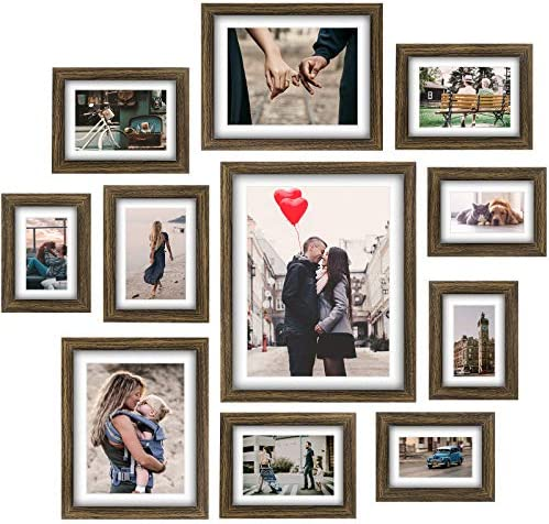 Homemaxs Picture Frames Collage Set 11 Pcs Rustic Wooden Photo Frame Gallery Wall Frame Set product image