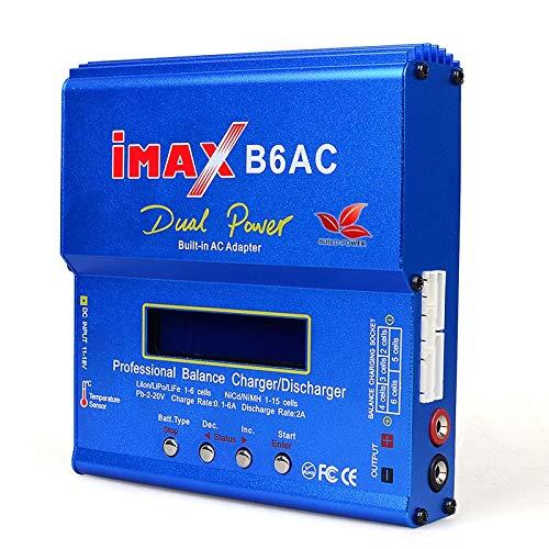 SHUGJAN IMAX B6 AC 80W B6AC Lipo NiMH 3S / 4S / enchufe cable de alimentación cargador del balance de la batería del rc 5S + EU AU de los EEUU Reino Unido Piezas de montaje RC