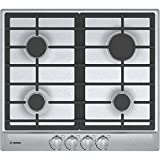 Bosch NGM5455UC 24' 500 Series Gas Cooktop with 4 Sealed Burners Centralized Push-to-Turn Knobs Automatic Electronic Re-Ignition and Low-Profile Design in Stainless Steel