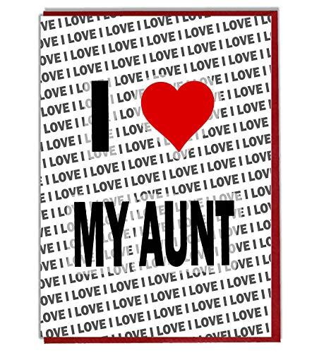 Ik hou van mijn tante wenskaart - Verjaardagskaart - Dames - Heren - Dochter - Zoon - Vriend - Echtgenoot - Vrouw - Broer - Zuster